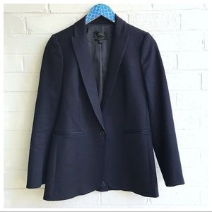J. Crew Tall Parke Navy Bi-Stretch Cotton Blazer